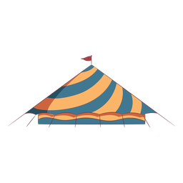 Tenda de circo colorido