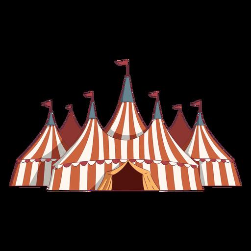 Barracas de circo coloridas