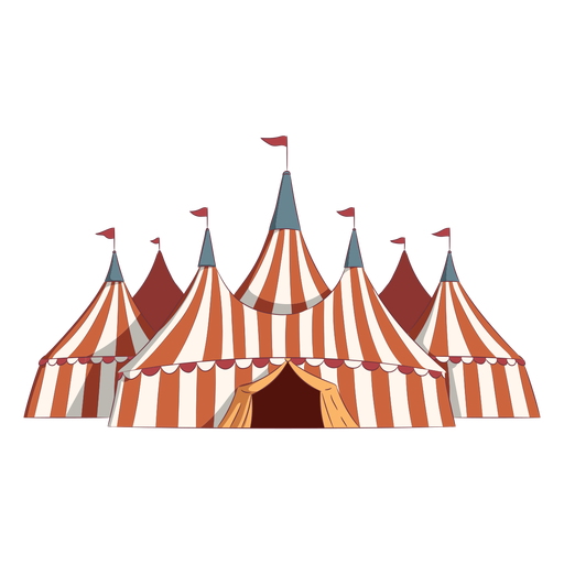 Colored circus tents