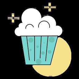 Colored cute popcorn