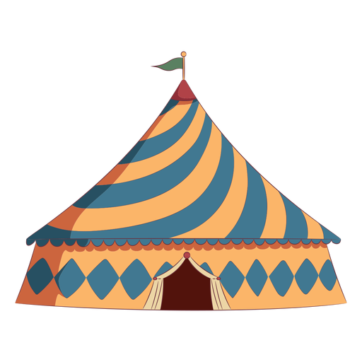 Colored triangle roof circus tent