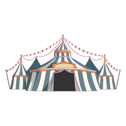 Coloridas carpas de circo