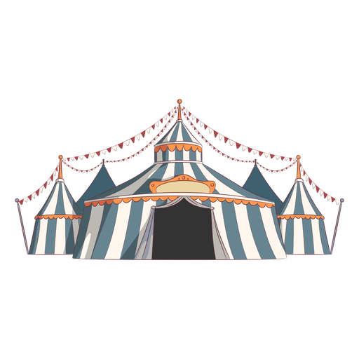 Colorful circus tents