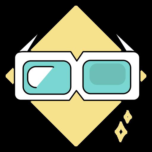 Cool 3d glasses colored