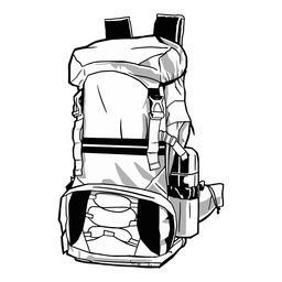 Cool backpack drawn