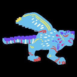 Criatura com asas caudas