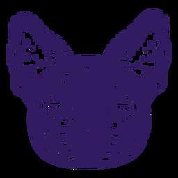Lindo gato silueta mexicana