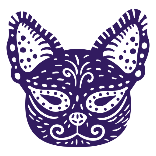 Cute cat mexican silhouette Transparent PNG