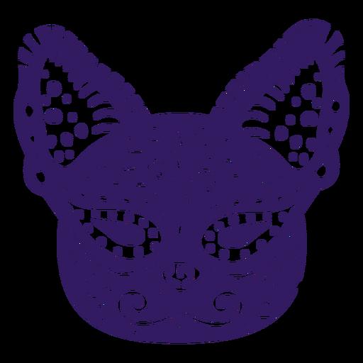 Lindo gato silueta mexicana Transparent PNG