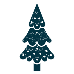 Cute christmas tree abstract