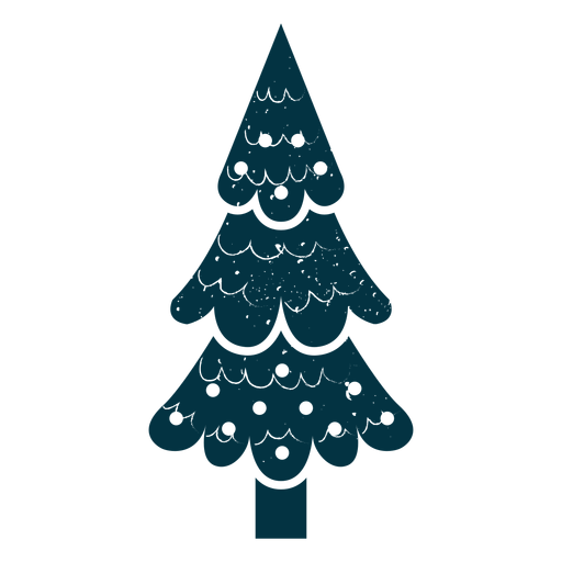 Cute christmas tree abstract Transparent PNG
