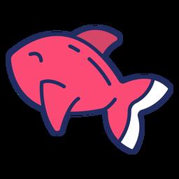 Cute fish flat