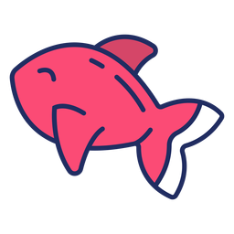 Lindo pez plano
