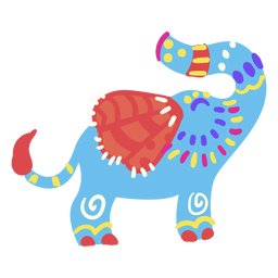 Cute flat elephant mexican