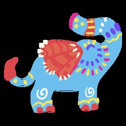 Lindo elefante plano mexicano