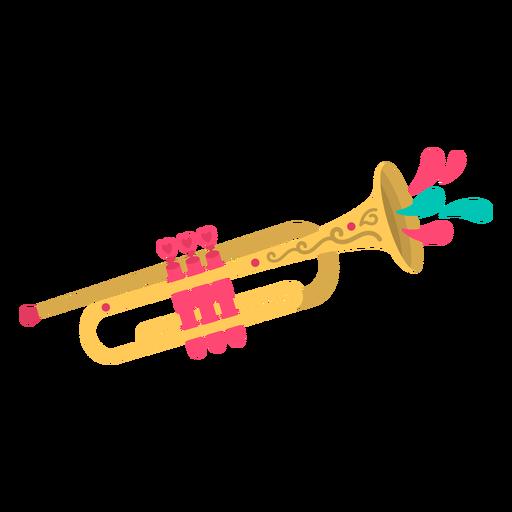Cute flat trumpet Transparent PNG