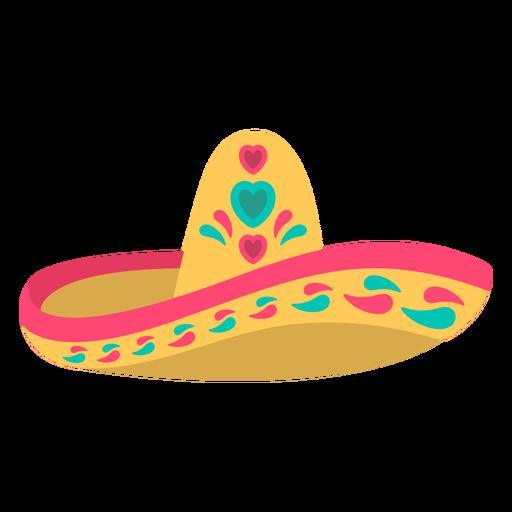 Cute hat flat