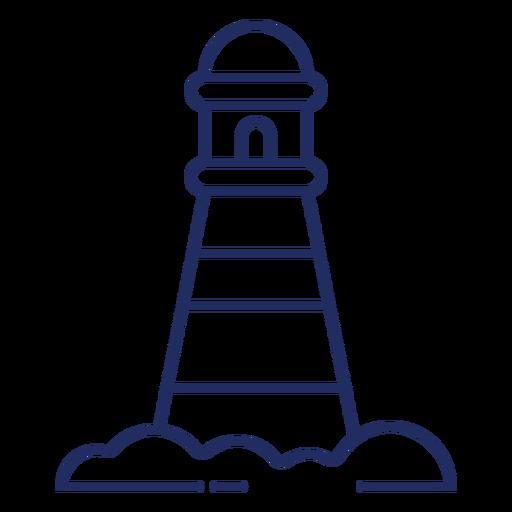 Cute lighthouse stroke