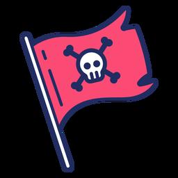 Bandeira de pirata bonito