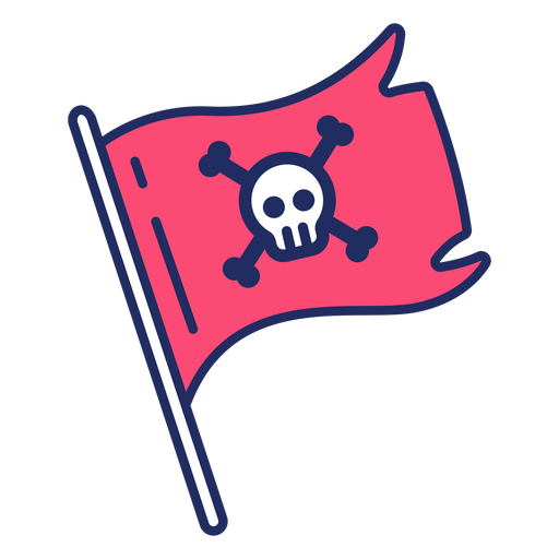 Linda bandera pirata Transparent PNG