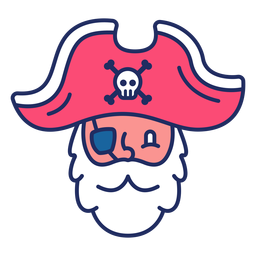 Linda cabeza de pirata plana
