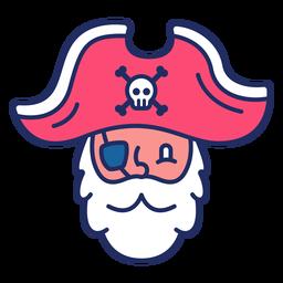 Linda cabeza pirata plana