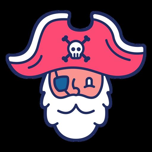 Cute pirate head flat Transparent PNG