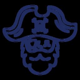 Lindo trazo de cabeza pirata
