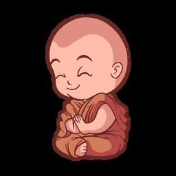 Lindo monje rezando