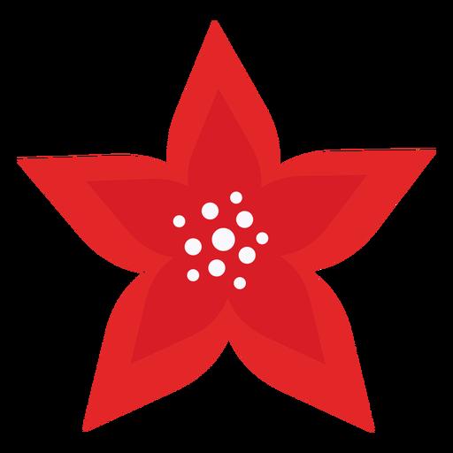 Linda flor de p?talos rojos