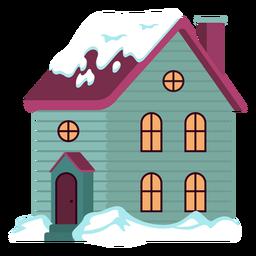 Linda casa nevada