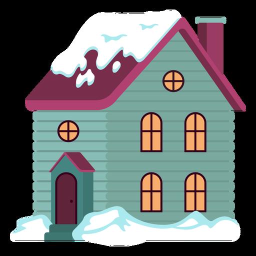 Cute snowed house