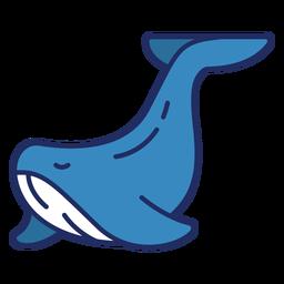 Cute whale flat