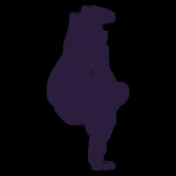 Dancer dubstep silhouette