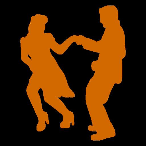 Dancing swing duo