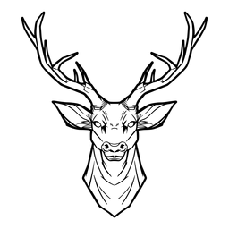 Deer head drawn