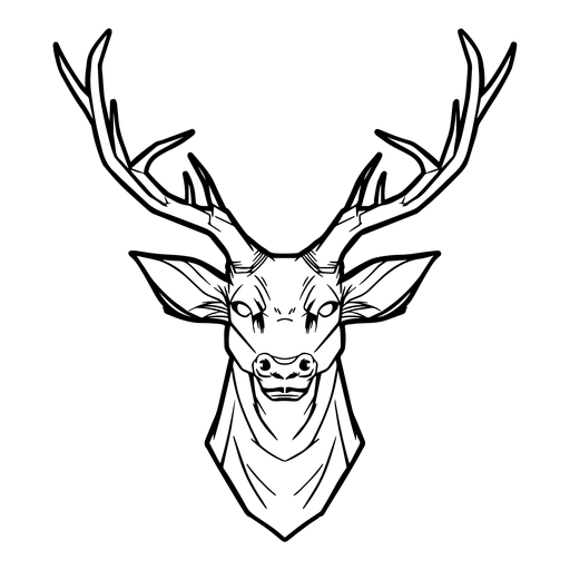Deer head drawn Transparent PNG