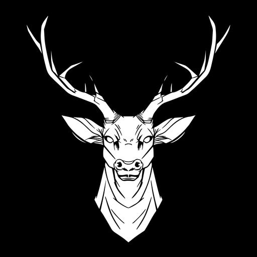 Deer head drawn
