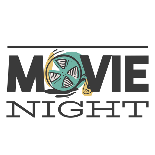 Design movie night Transparent PNG