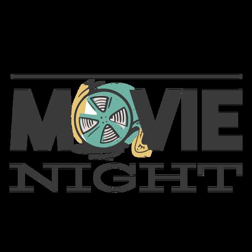 Design noite de cinema Transparent PNG