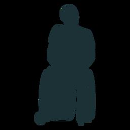 Silhouette einer behinderten Person