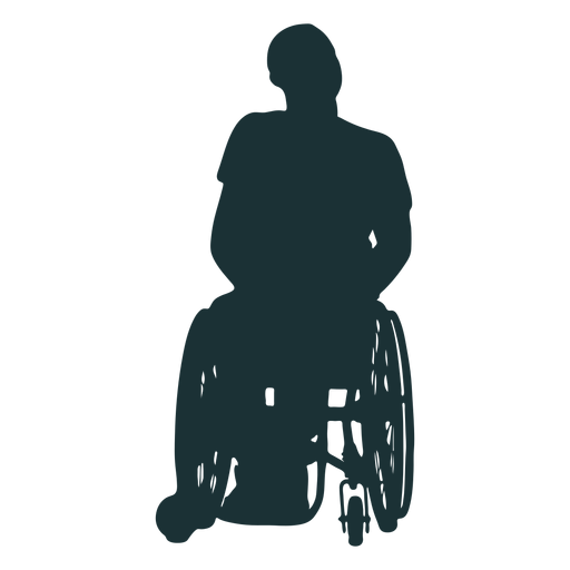 Disabled person silhouette Transparent PNG