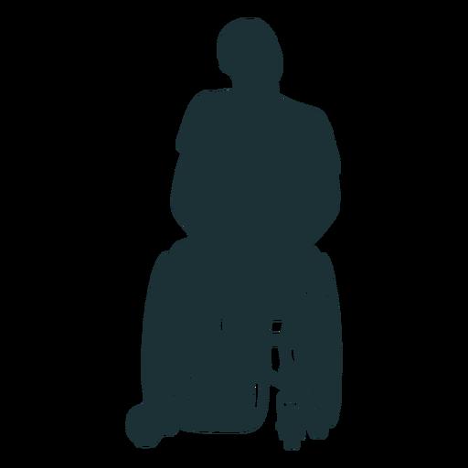 Silueta de persona discapacitada