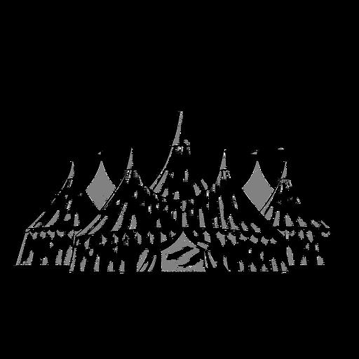Desenho de tendas de circo legal Transparent PNG