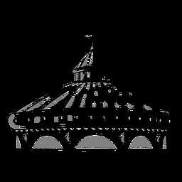 Desenho de grande tenda de circo