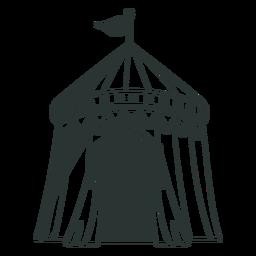 Bandeira de tenda de circo desenhada