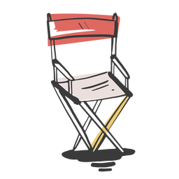 Drawn director chair