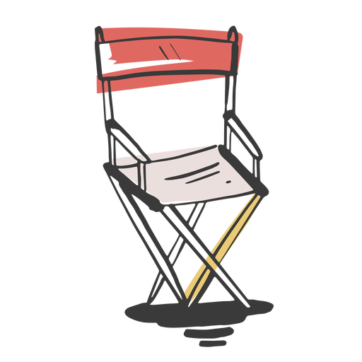 Drawn director chair Transparent PNG