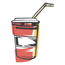 Copo de bebida desenhada