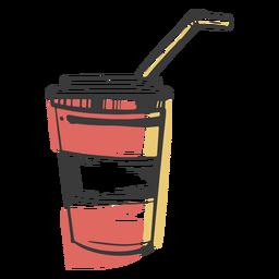 Taza de bebida dibujada